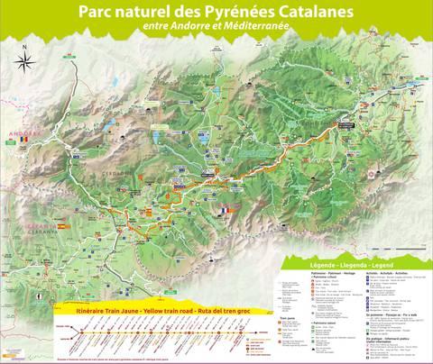Carte Pyrenees Catalanes Conflent Canigo Tourisme Le Canigou