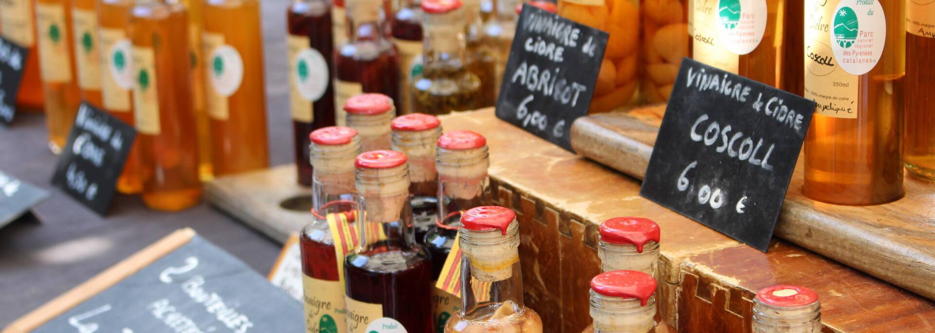 Vinaigres et sirops de Frantz Birot de Thorrent - Marché de la Rotja
