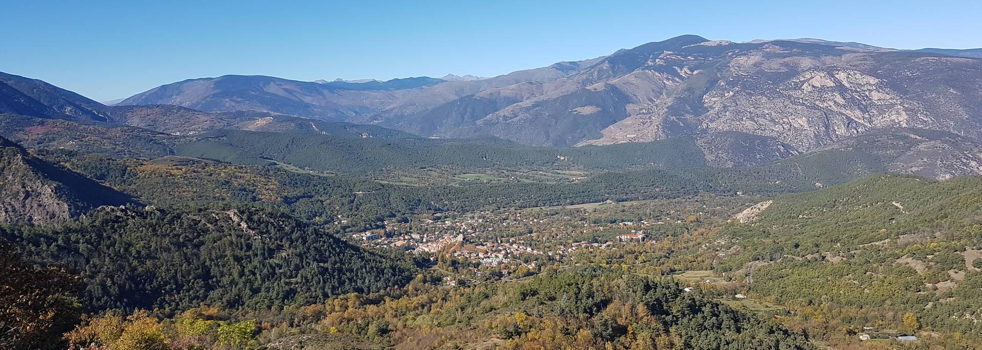 Point de vue sur Vernet-les-Bains