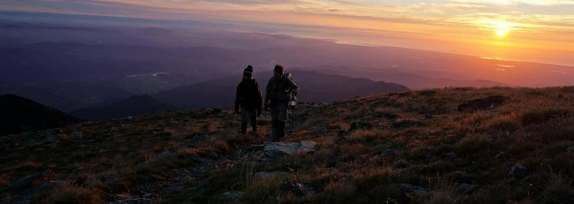 lever du jour sur le massif du canigo