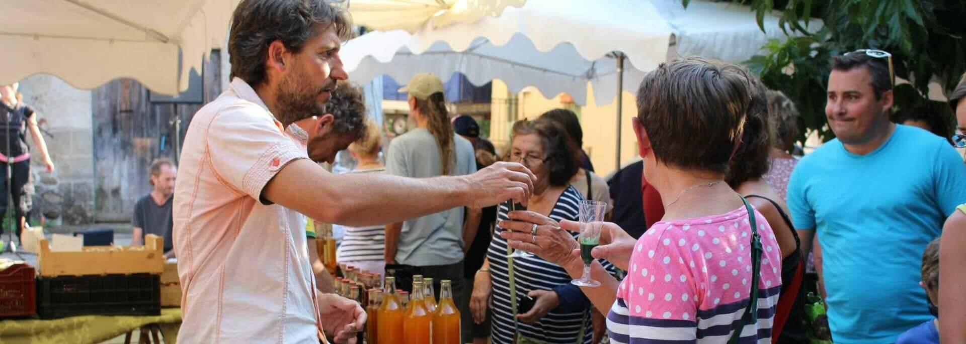 Spiruline, Le chant de l'eau - marché de la Rotja