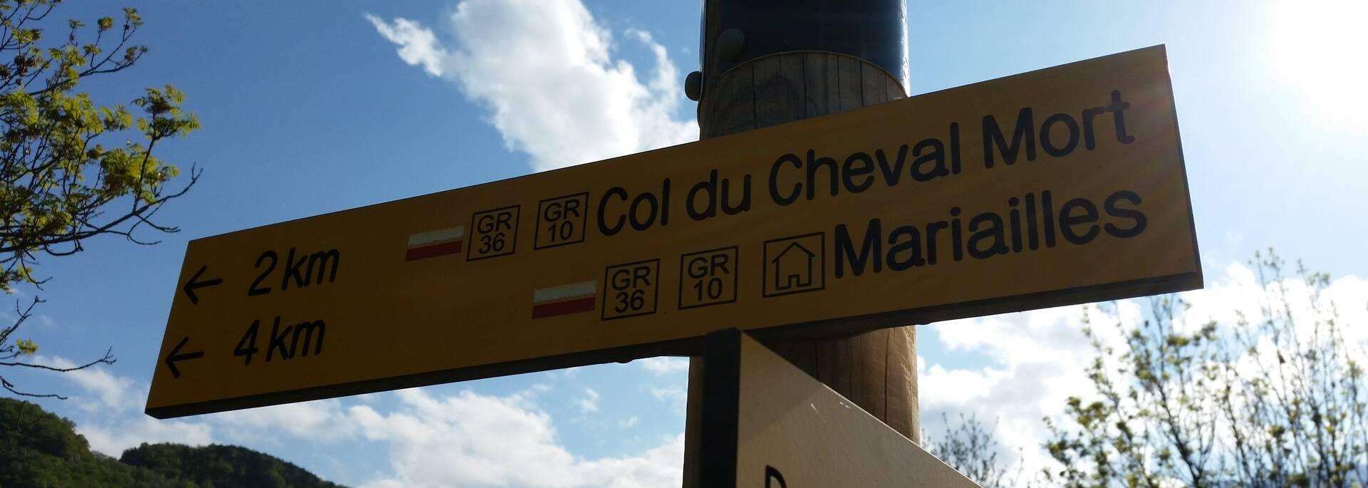 Départ du Col de Jou
