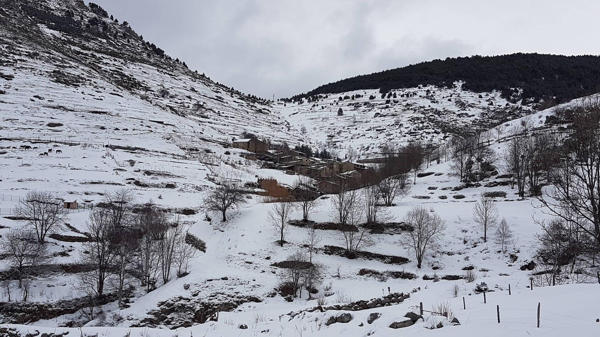 Le village de Mantet