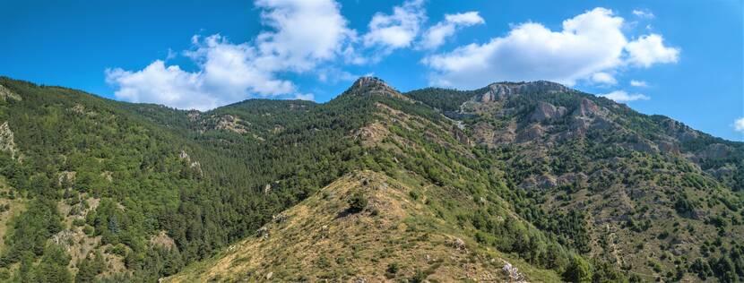 panorama réserve naturelle de Jujols