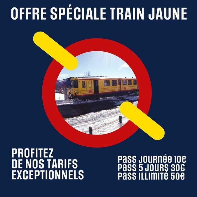 offre train jaune hiver